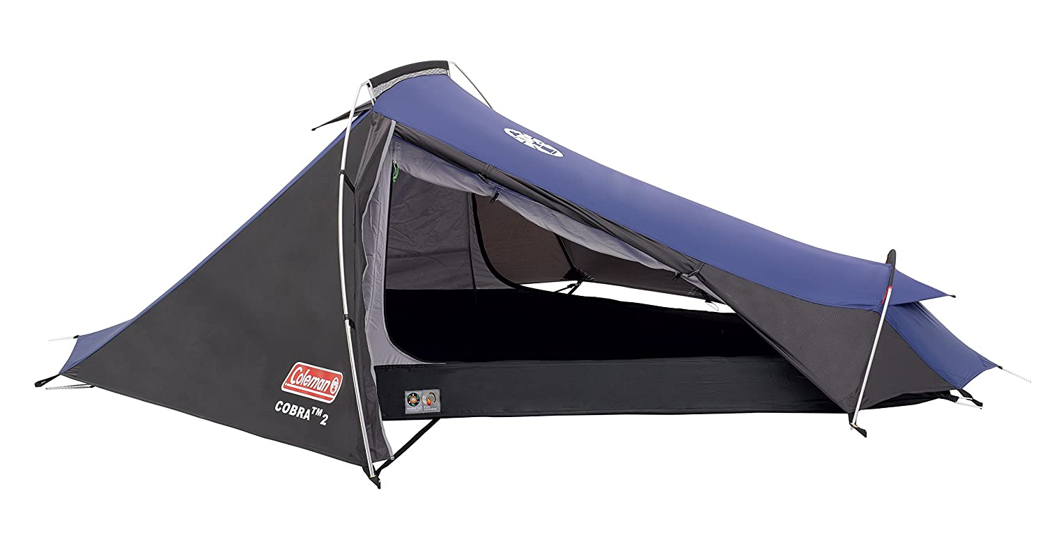 Coleman Cobra 3 Person Lightweight Tent in Blue Camping Outdoors Compact