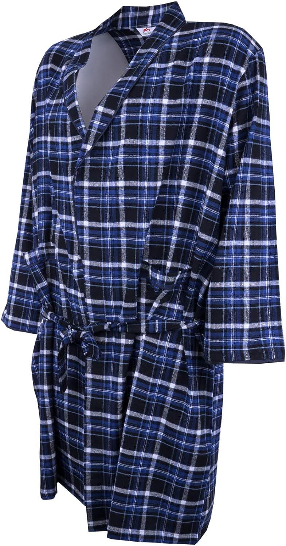Blau oder Schwarz 100/% Baumwolle klasisches Karo Design Maracheno Leichter Herren Bademantel Morgenmantel Morgenrock nur /Übergr/ö/ßen 2XL 3XL 4XL 5XL 6XL 7XL 8XL