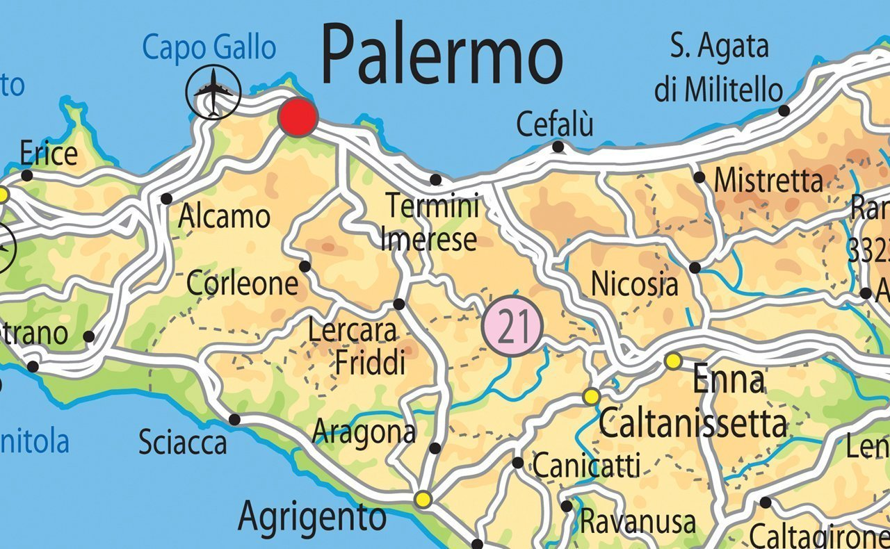 Italy Physical Map Paper Laminated A Size X Cm - Map of italy physical