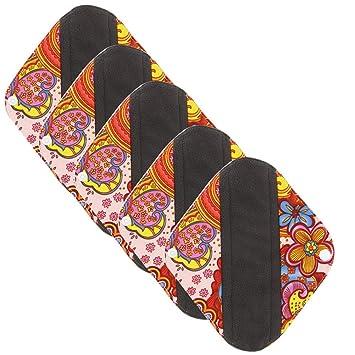 LUCKME Almohadillas Sanitarias Reutilizables para Mujeres, Tela Menstrual Lavable Absorción de Flujo Pesado para Servilletas