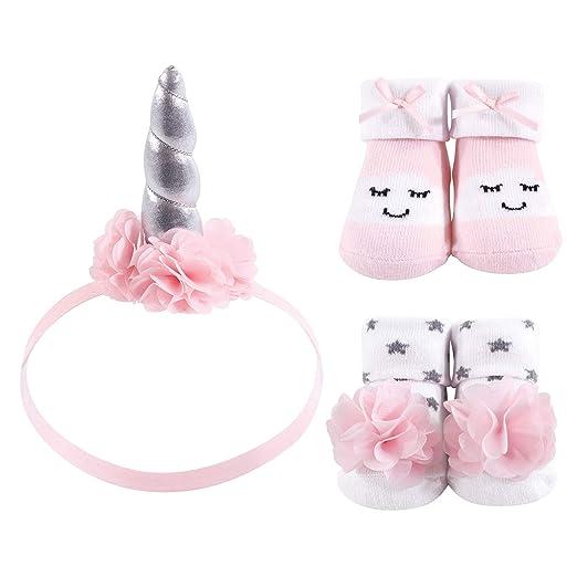 Amazon.com  Hudson Baby Baby Headband and Socks Set 88e8cfd7312
