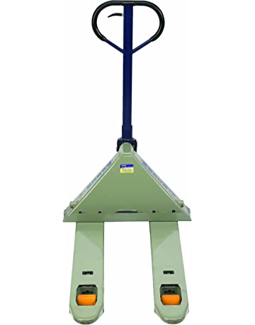 Wesco 272744 Deluxe Adjustable Fork Pallet Truck with Handle, Polyurethane Wheels, 5500 lbs Load