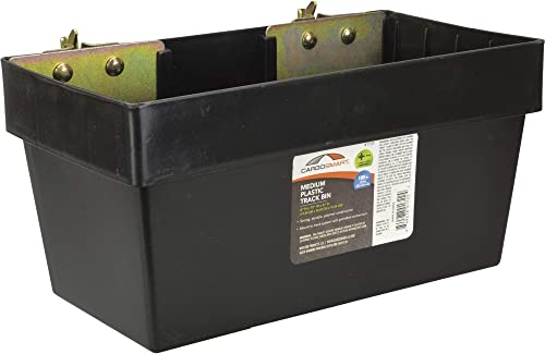CargoSmart Medium Plastic Storage Bin – 12in.W x 6in.D x 6in.H, for E-Track and X-Track