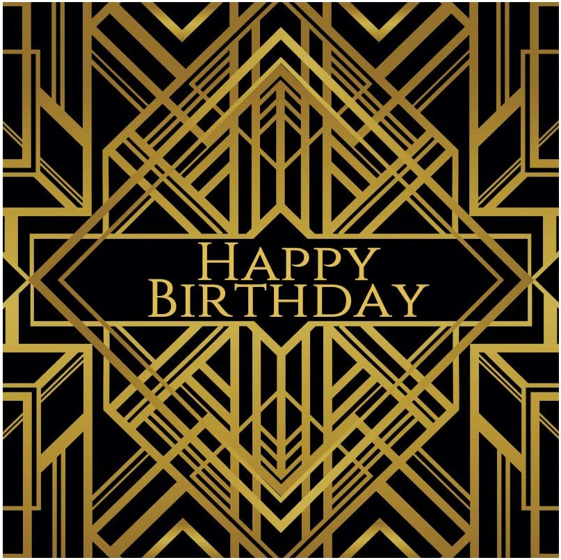 YEELE 10x10ft Vintage Backdrop for Party Happy Birthday Photography Background 40th 50th 60th 70th 80th Birthday Decoration Man Woman Artistic Portrait Photoshoot Props Digital Wallpaper