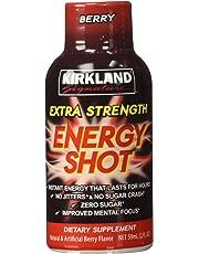 Kirkland Signature Extra Strength Energy Shot Berry, Pomegranate and Grape, 2 Ounce, 48 Count