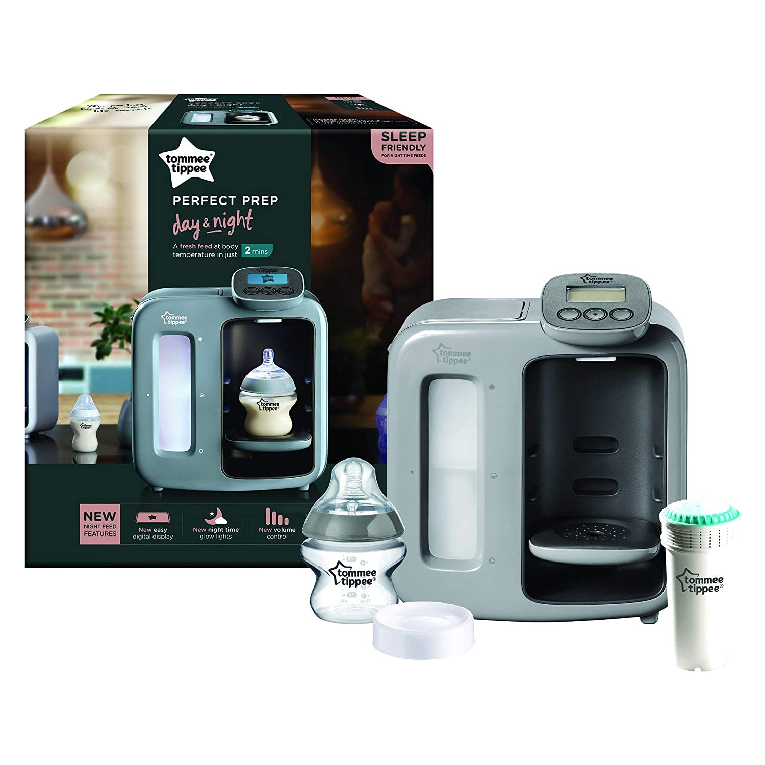 Tommee Tippee Perfect Prep Day & Night gris: Amazon.es: Bebé