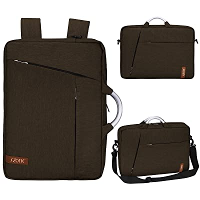 On Sale- S-ZONE Laptop Briefcase Backpack Convertible Laptop Briefcase Backpack