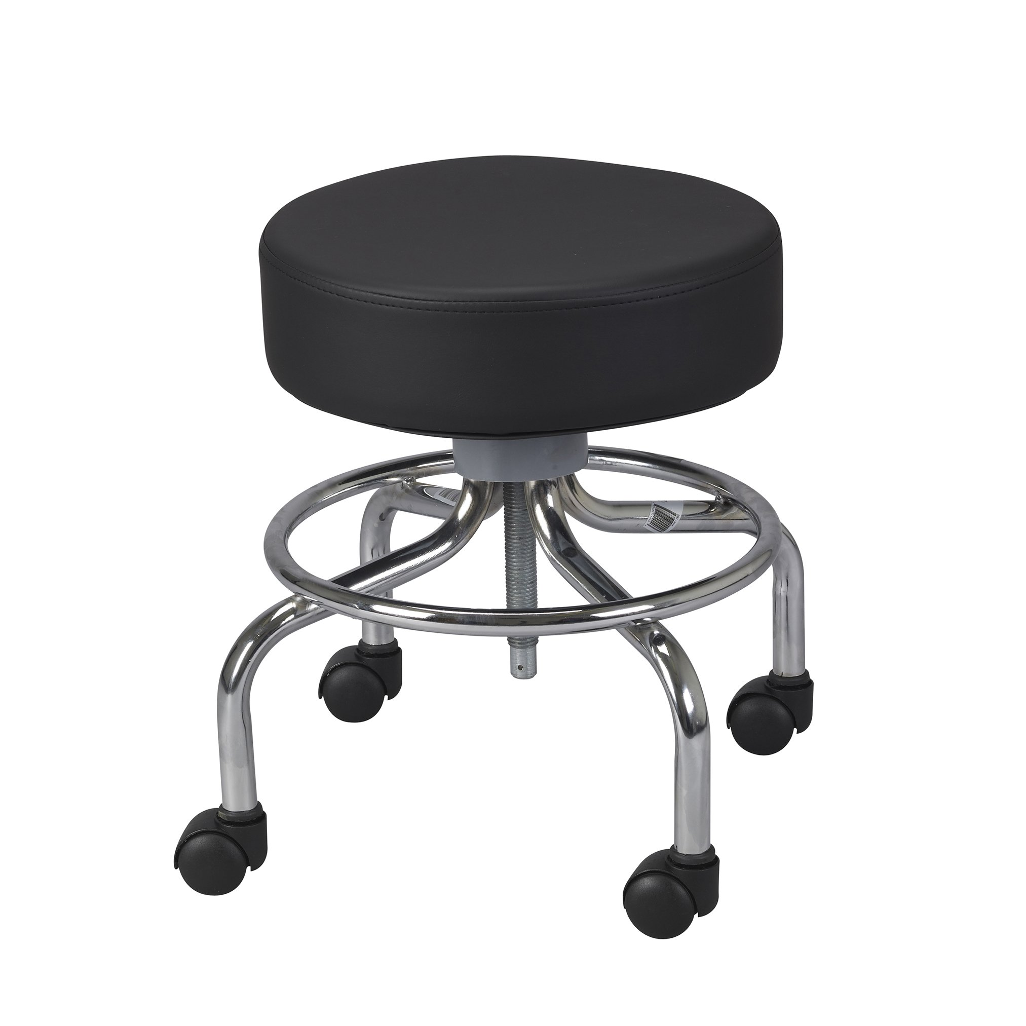 Drive Medical Deluxe Wheeled Round Stool, Black