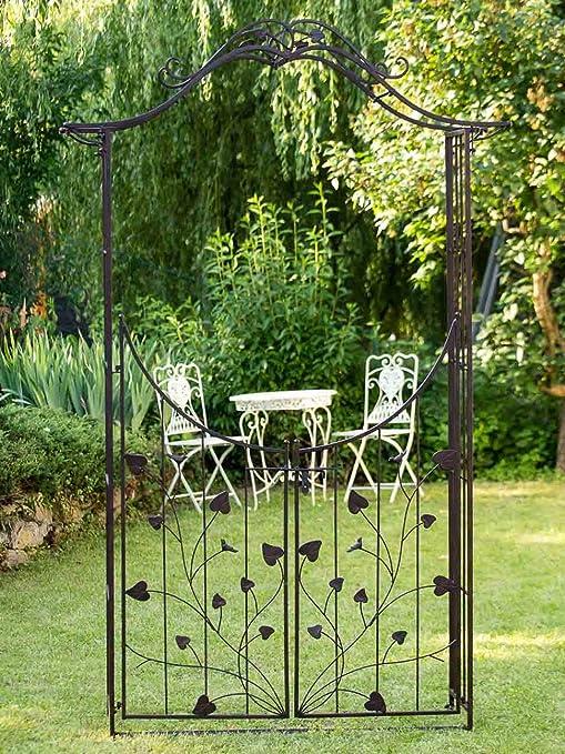 aubaho Nostalgia Puerta Puertas jardín 235cm Hierro jardín de Estilo antigüedad: Amazon.es: Jardín
