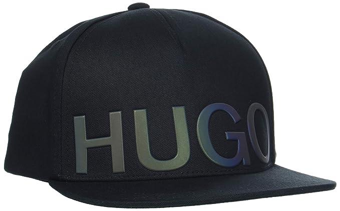 66f33fab848 Amazon.com  Hugo Boss Mens Hat Cap Men-X 541 1 50402177 Size ONE Size Black   HUGO BOSS  Clothing