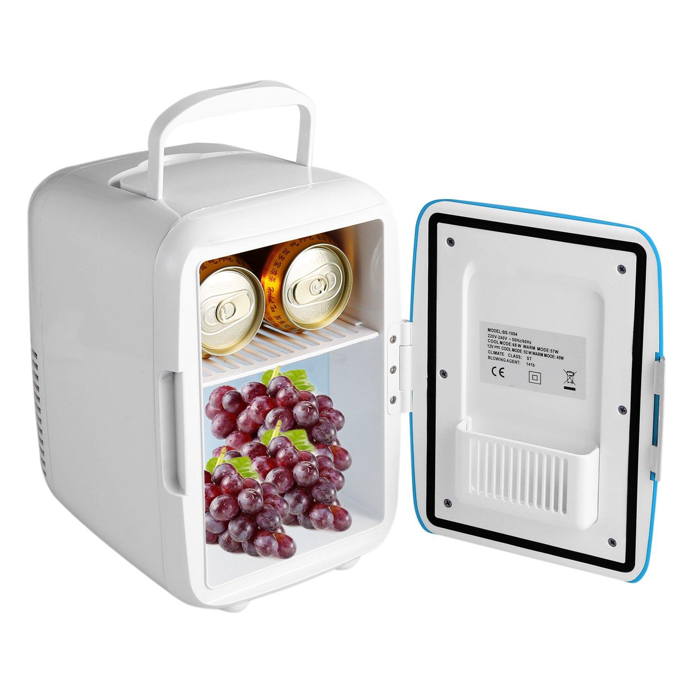 Peque/ños Hogares Oficinas Hoteles Biuday Mini-Frigor/ífico Mini Nevera Electrica 4 Litros Portatil Minibar Estudiantes Ideal para Coche