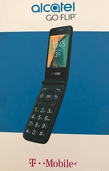 Amazon com: Alcatel Go Flip 4GB 4044W Blue - T-Mobile