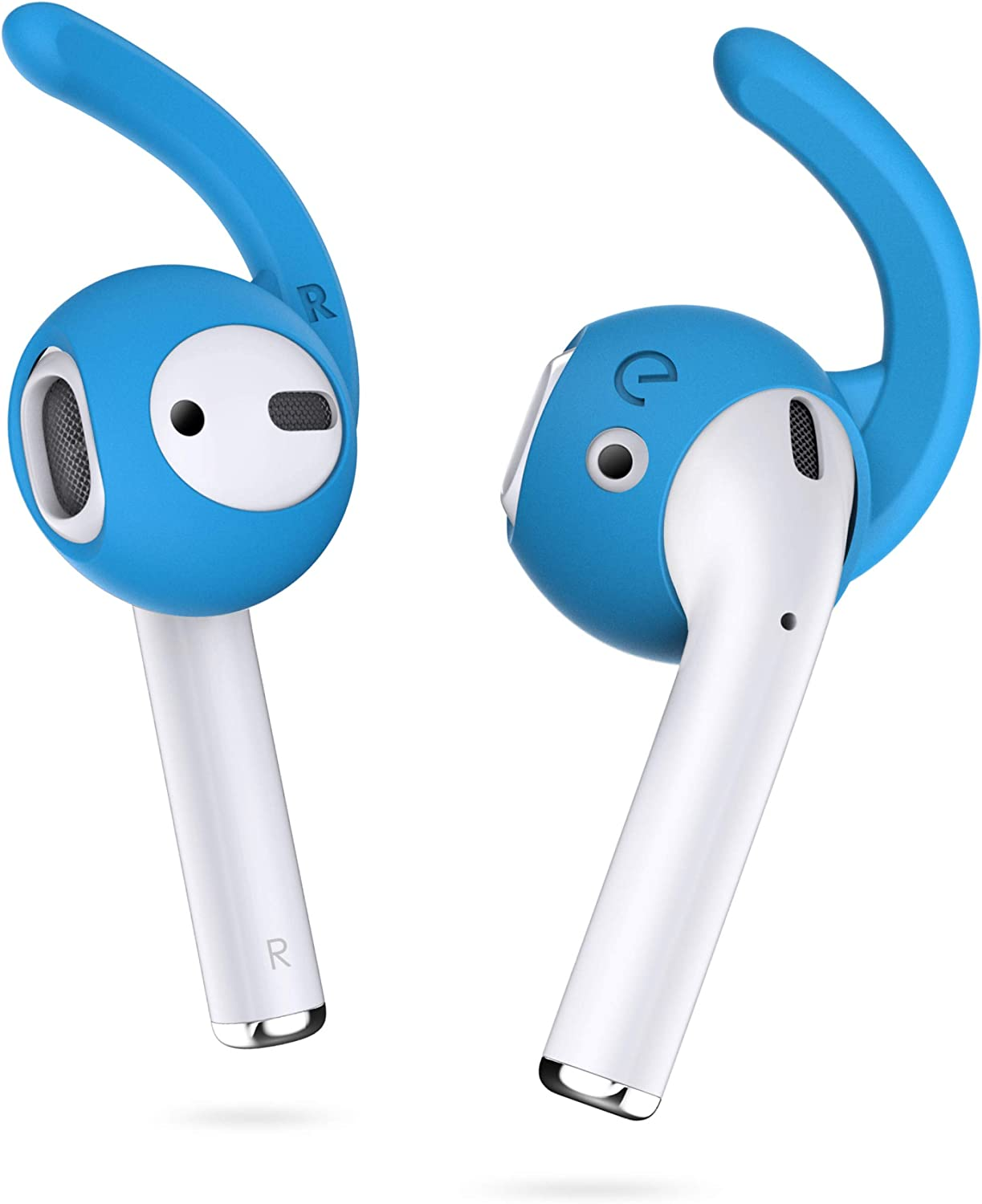 EarBuddyz 2.0 Ear Hooks and Covers Accessories Compatible with Apple AirPods 1 & 2 or EarPods Headphones/Earphones/Earbuds (3 Pairs) (Sky Blue)