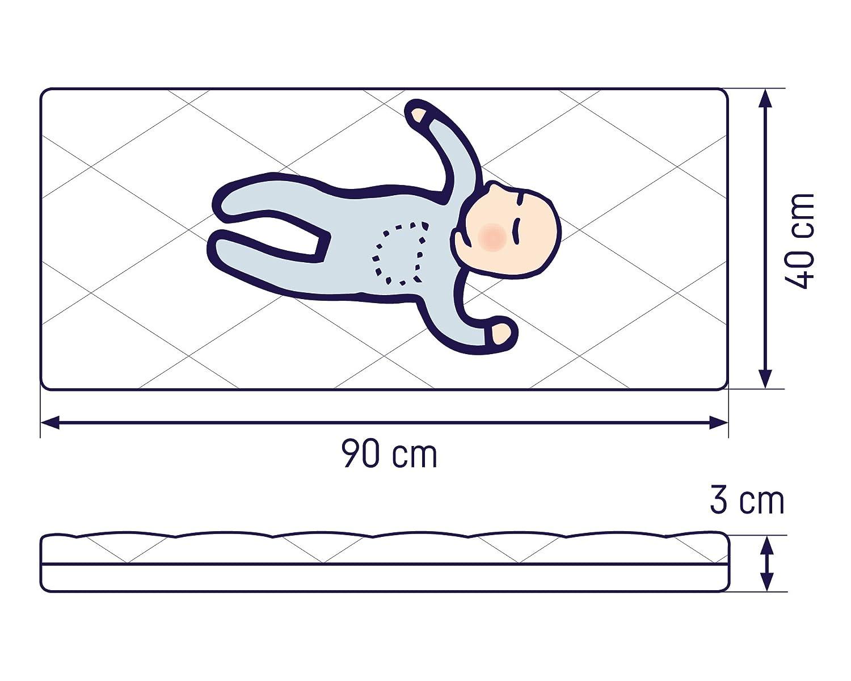 90 x 40 cm Colch/ón para cuna Julius Z/öllner 1350090400 Dream Soft Importado de Alemania