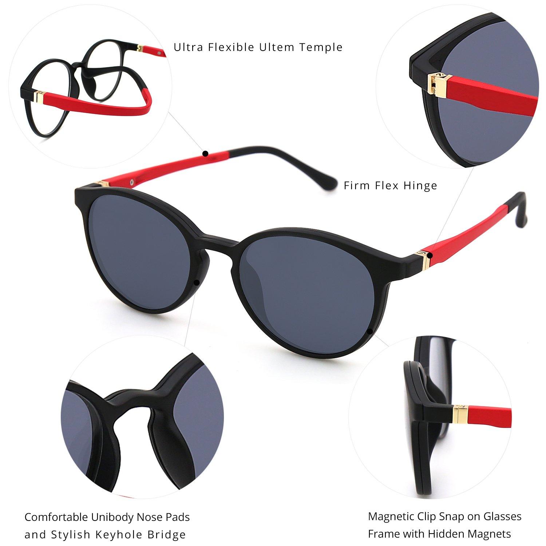 ZENOTTIC 2 en 1 Clip magnšŠtico en gafas de sol para gafas graduadas  Hombres Marco flexible ULTEM gafas polarizadas en gafas para mujer   Amazon.es  Ropa y ... 7af94c115e