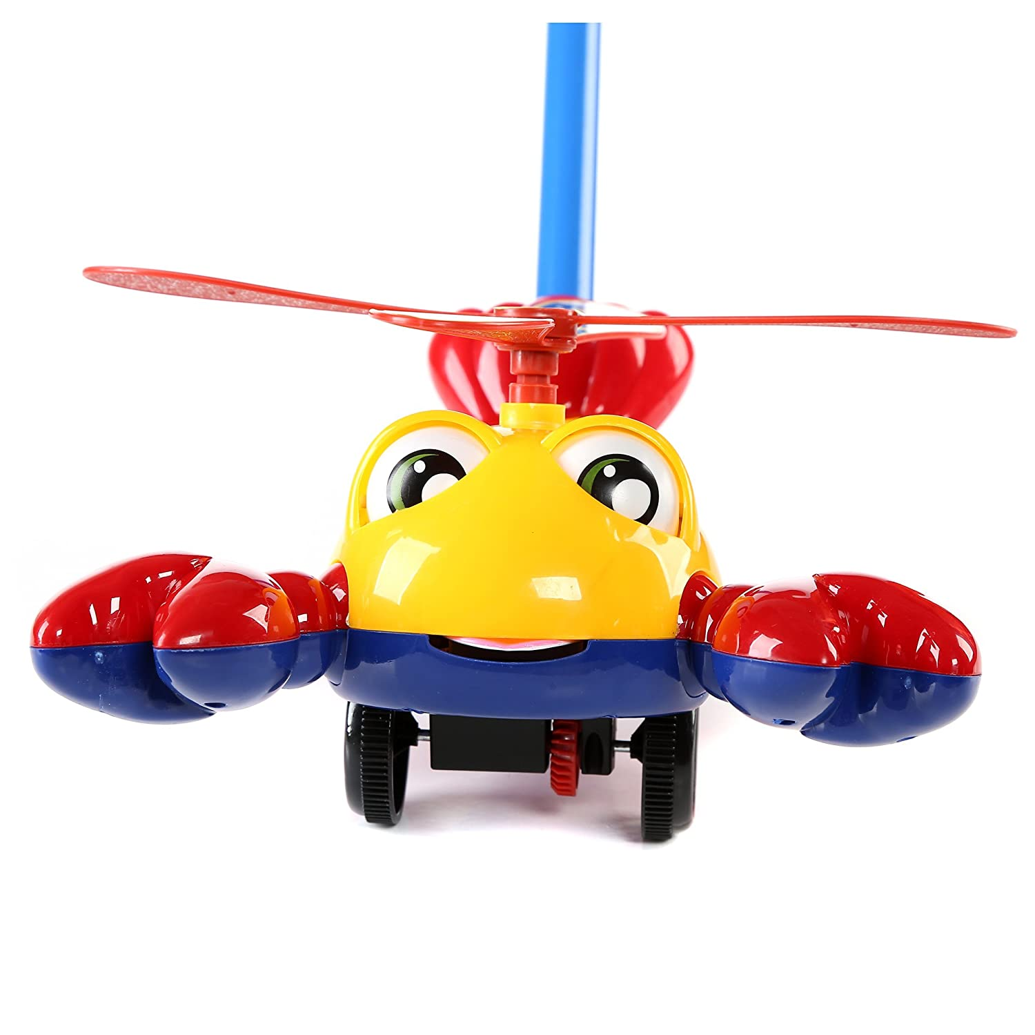 Fun Central BC903 1 Pc 10 inches Lobster Push Toy Pushing Toy for Kids Outdoor Push Toys Classic Push and Pull Toys Push Around Toy for Baptism Birthday and Party Prizes