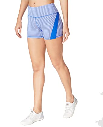 467640d9441763 Calvin Klein Performance Womens Color Blocked High-Rise Shorts Blue ...