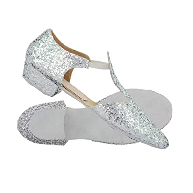 c94a173f420 RV Roch Valley Silver Glitter Ballroom Dance Greek Sandals GGS (1 (EUR 33)