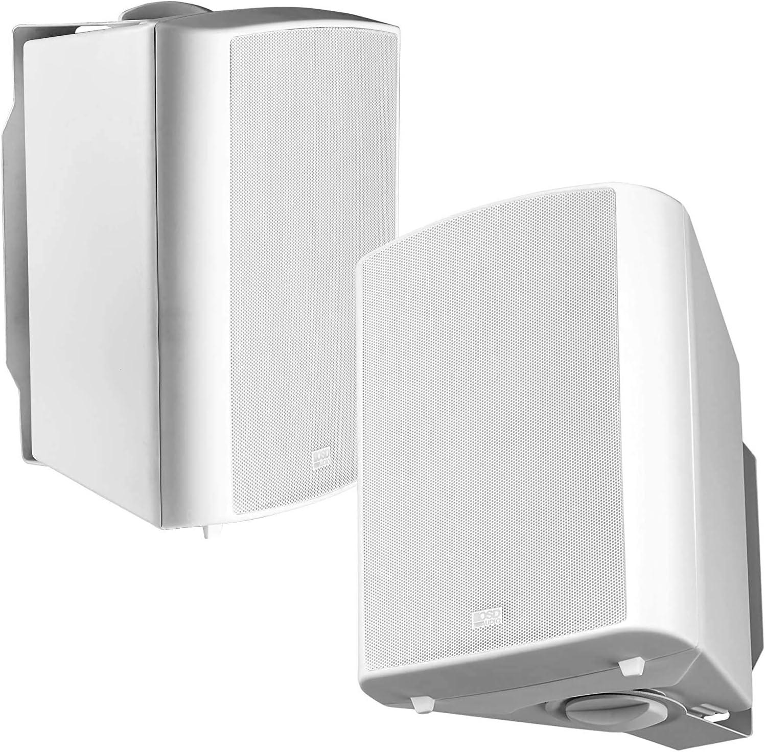 "OSD Audio 70V Commercial 5.25"" Patio Speaker Indoor Outdoor Pair White AP520T"