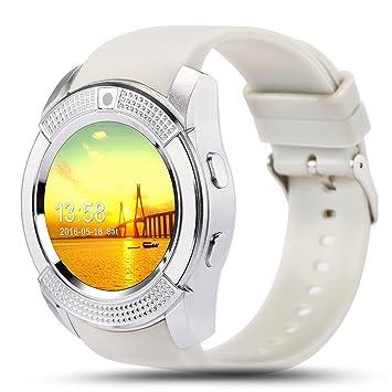 Kivors Reloj Inteligente, Bluetooth Smartwatch Pulsera Deportes ...