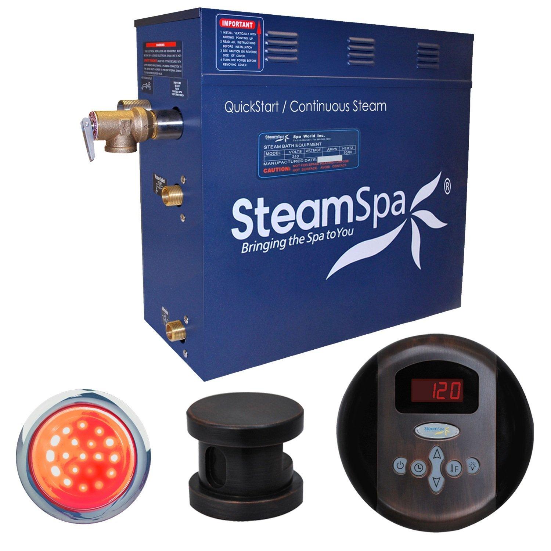 Steam Spa IN900OB Indulgence 9 KW Quick Start Acu-Steam Bath Generator Package, Oil Rubbed Bronze