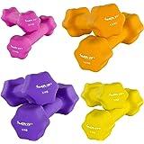 MOVIT 2er Set Neoprenhanteln, Kurzhanteln mit Oberfläche aus Neopren, 8 Gewichts- und Farbvarianten