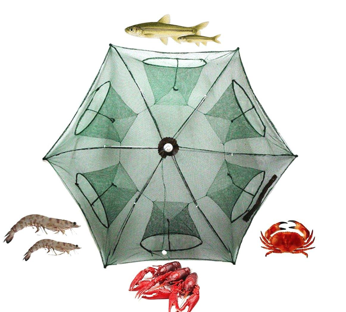 Fishing Net, PeachFYE Foldable Fish Shrimp Crab Minnow Crawfish Crab Baits Cast Mesh Trap Neit Cage B01NH02VM7
