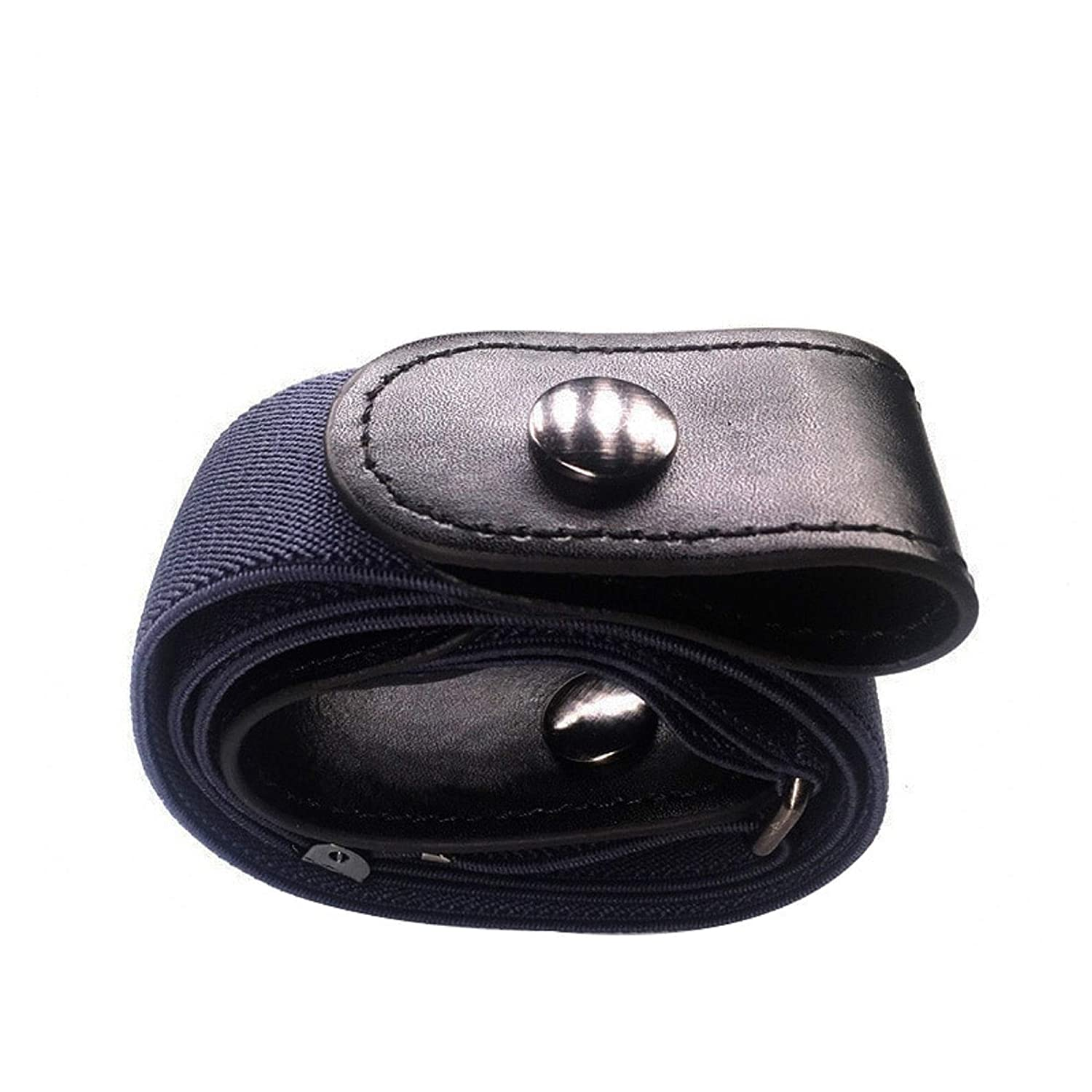 Super Comfortable Invisible Elastic Unisex Belt for Jeans Easy to Use and Adjustable No Buckle Belts for Men and Women