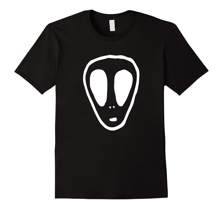 UFO Alien Face Mystery Horror T-Shirt-FL