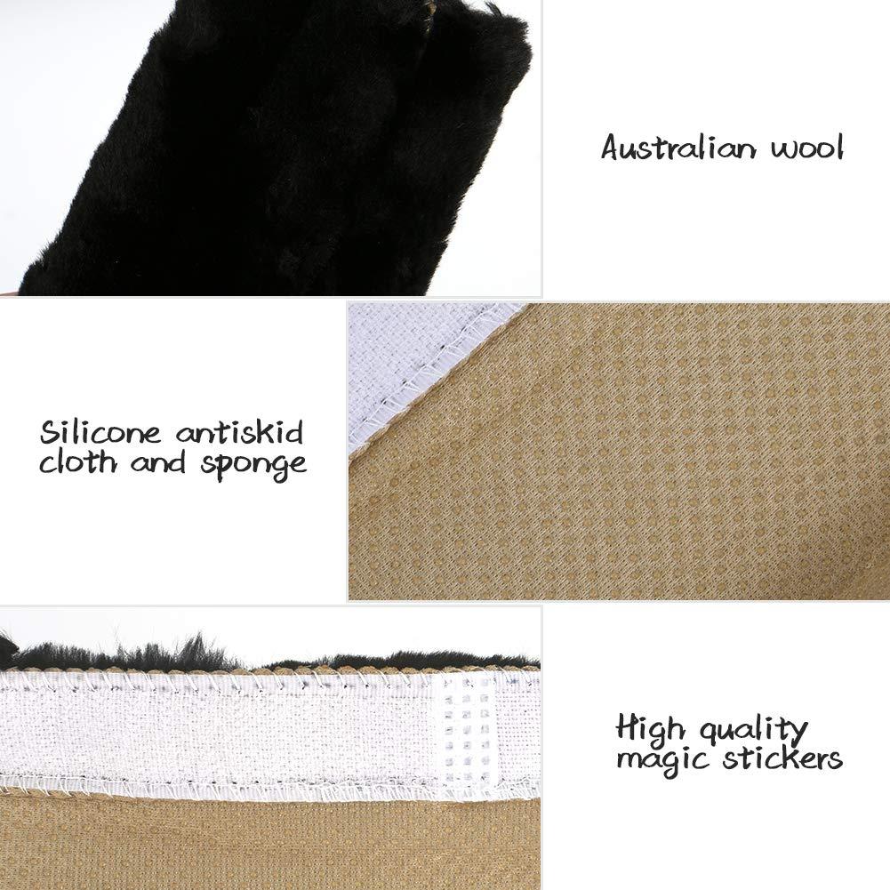 Shoulder Bag Backpack Merssyria Sheepskin Shoulder Strap Covers for Car Seat Belt 2PCS Soft Seat Belt Pads