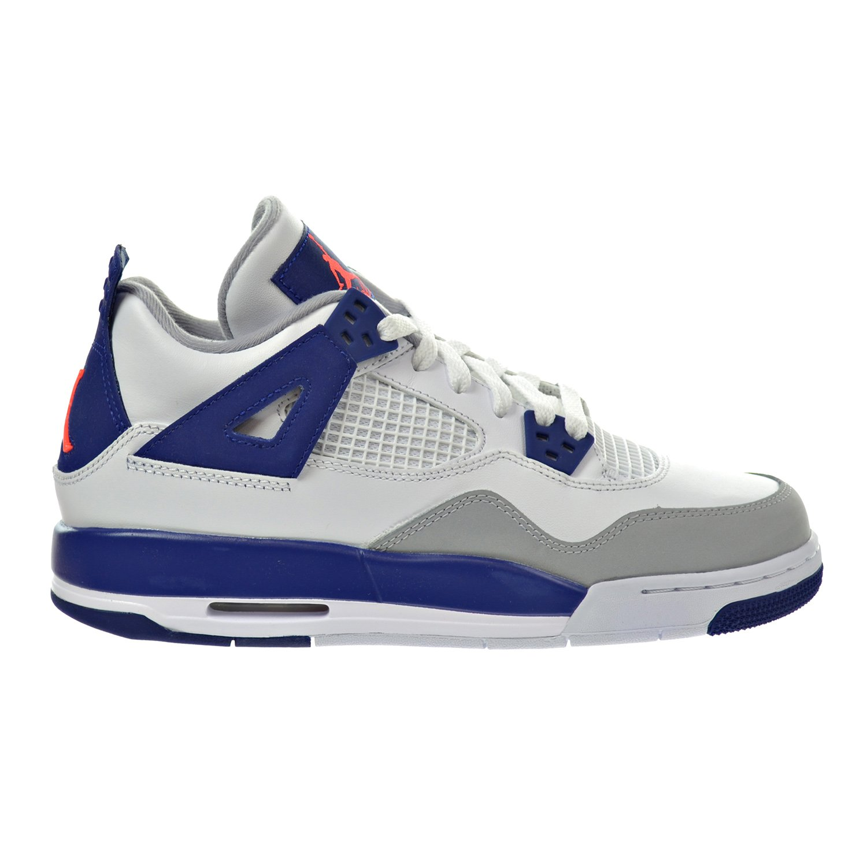 Jordan Air 4 Retro GG Big Kids Shoes White//Hyper Orange//Deep Royal Blue//Wolf Grey 487724-132