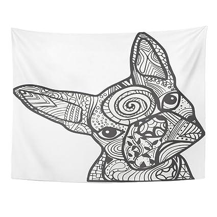 Amazon.com: TOMPOP Tapestry Boston Terrier French Bulldog Doodle ...