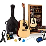 Yamaha Gigmaker Deluxe Acoustic Guitar Package with Gig Bag, Tuner, Instructional DVD, Strap, Strings, and Picks…