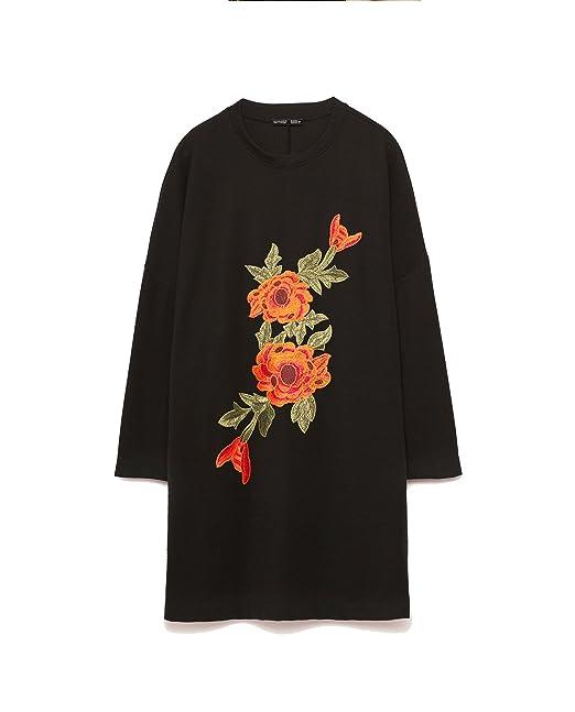 Zara - Vestido - para mujer negro negro M