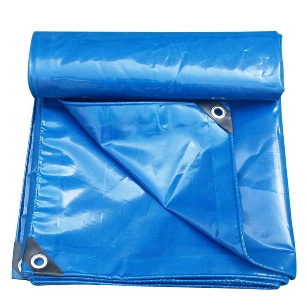 AJZGF Im Freien Plane verdoppeln doppelseitiges super Wasserdichtes LKW-Hallenstoffsonnenschutzabnutzungsresistentes rostfestes PVC, blau (Farbe : Blau, größe : 6×6m)
