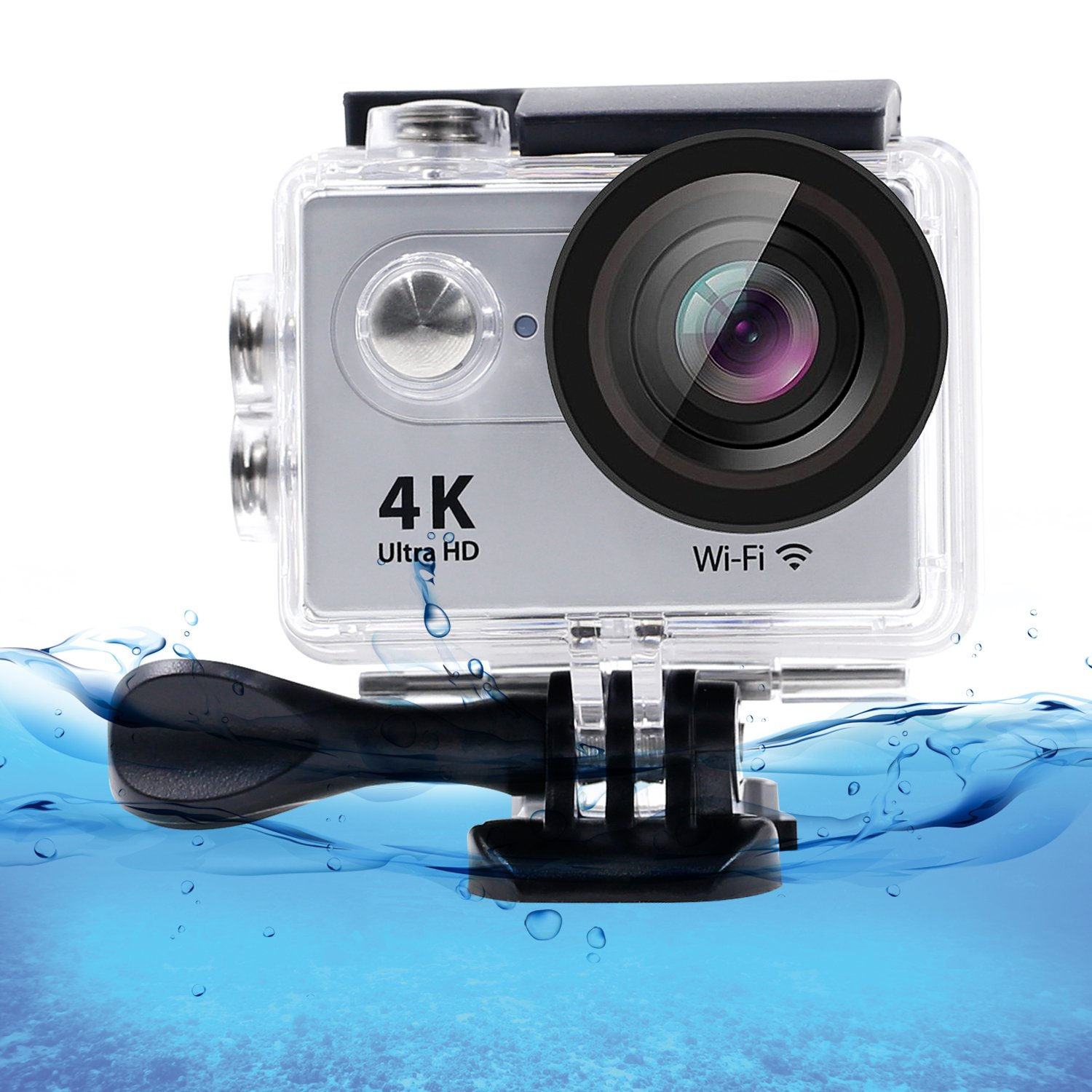 Eccbox 2 inch LCD Screen Sports Action Camera 4K 30fps Wifi Ultra HD Waterproof 12MP DV Camcorder with 170 Degree Wide Angle lens,Remote Control and 18 Mounting Kits included