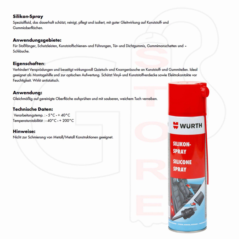Silicona Spray - 500 ml - protege, Cuida y aislado Soldados con buen gleitwirkung de plástico, de goma y metal Piezas de conducción zeuginnen de y ...