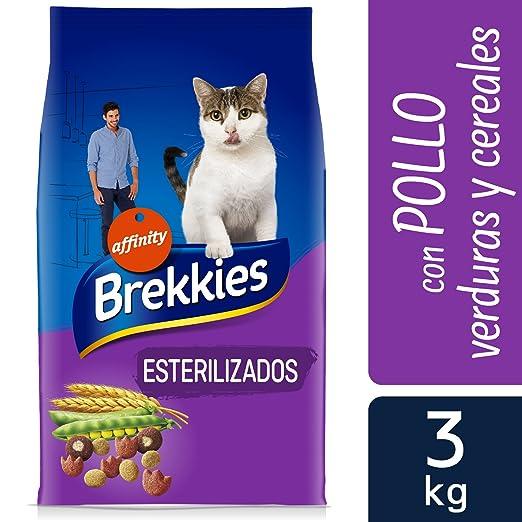 Brekkies Pienso para Gatos Gatos Esterilizados con Pollo y Verduras - 3000 gr: Amazon.es: Productos para mascotas
