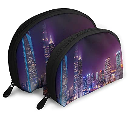 New York City Art Womens Travel Makeup Bag Shell Cosmetic Bags - Pack of 2: Amazon.es: Belleza