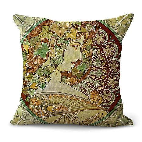 Amazon.com: WholesaleSarong Art Nouveau Alphonse Mucha Ivy ...