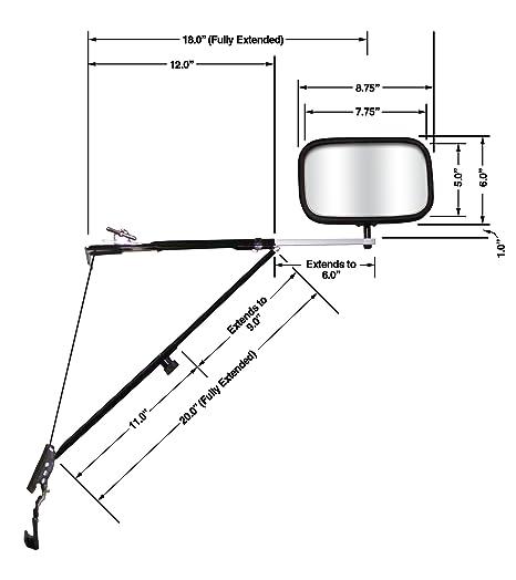 Amazon Com Cipa 11650 Deluxe Door Mount Towing Mirror Automotive