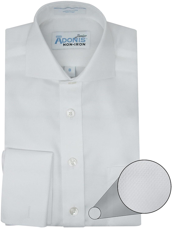 Amazon Adonis Boys 100 Cotton Non Iron White French Cuff