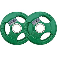 Rubber Coated Tri-Grip Olympic Plate Weights, Barbell Weights, Weight Platess (2.5 Kg to 25 Kg)