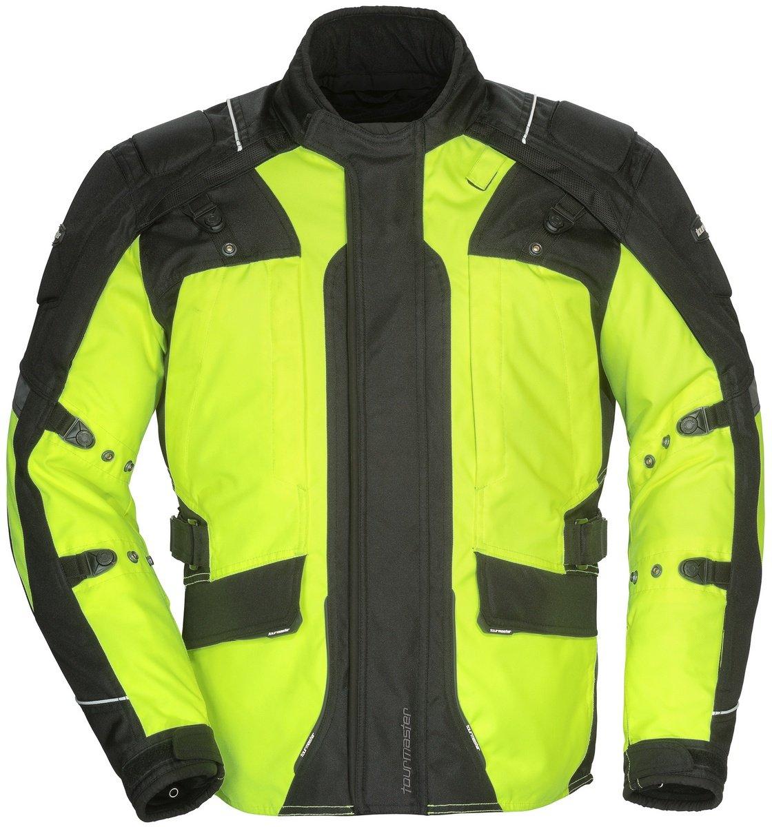 Tourmaster Transition Series 4 Men's Textile Motorcycle Touring Jacket (Hi-Viz/Black, Small)