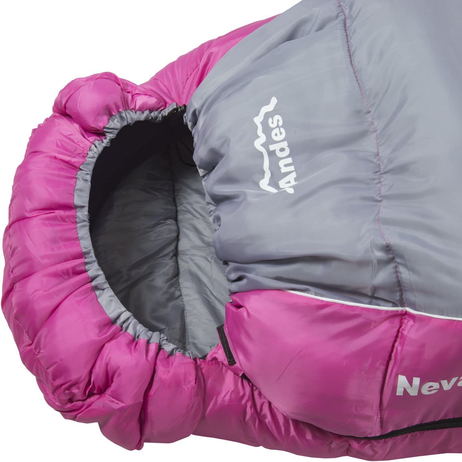 Andes Nevado 3 Season Mummy Sleeping Bag Warm 300GSM Filling Hiking Ideal For Camping Backpacking Festivals Compression Carry Bag Included