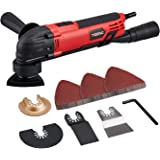 Teeno Multi-Function Oscillating Tool Kit with 35Pcs Accessories for Sanding, Cutting and scraping, 15000-23000RPM…