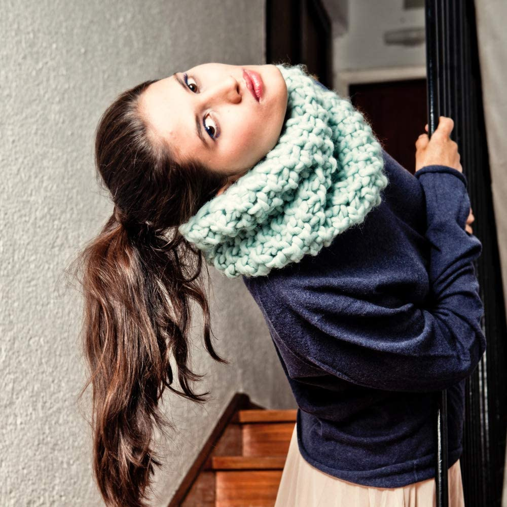 We Are Knitters Downtown Snood Aquamarine