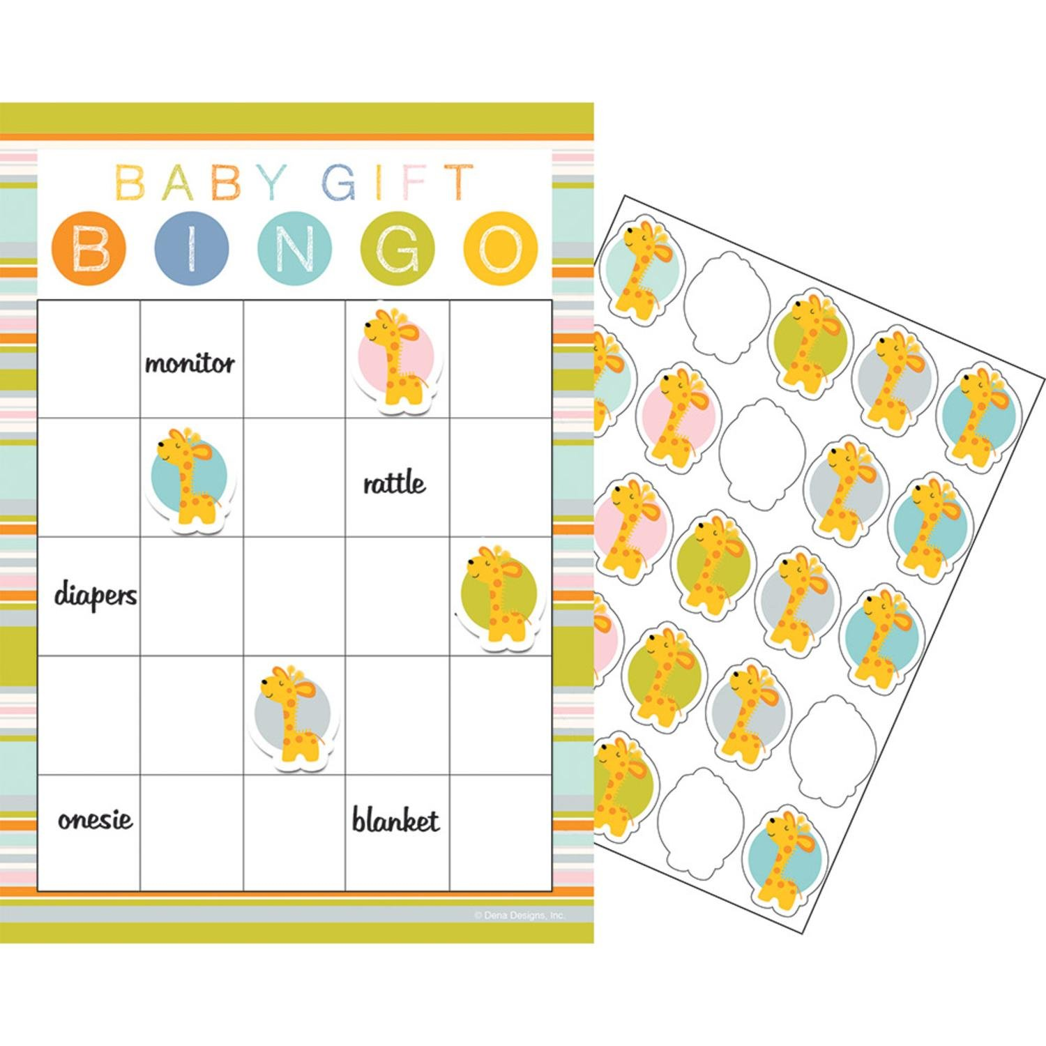 "Party Central Club Pack of 60 Yellow and White Happy Jungle Wild Safari Baby Shower Bingo Theme 10"" by Party Central"