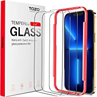 TOZO Compatible for iPhone 13 Pro Max Screen Protector 6.7 inch 3 Pack Premium Tempered Glass 0.26mm 9H Hardness 2.5D…