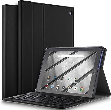 ELTD Teclado Estuche para Acer Iconia One 10 B3-A50,[QWERTY], Frosted Protectora de Cuero PU Cover Funda con Desmontable Wireless Teclado para Acer ...